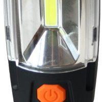 LAMPA 3W+6 LED ALUMULATOR 2000mAh, OBROTOWA 360
